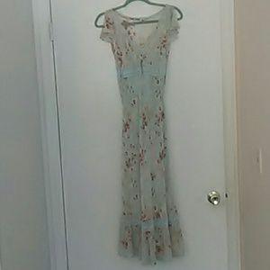 VTG Express New Silk Maxi Boho 👗 Dress